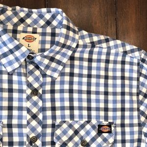 Dickies Plaid Casual Button Down